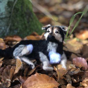 figurka pies kot portret